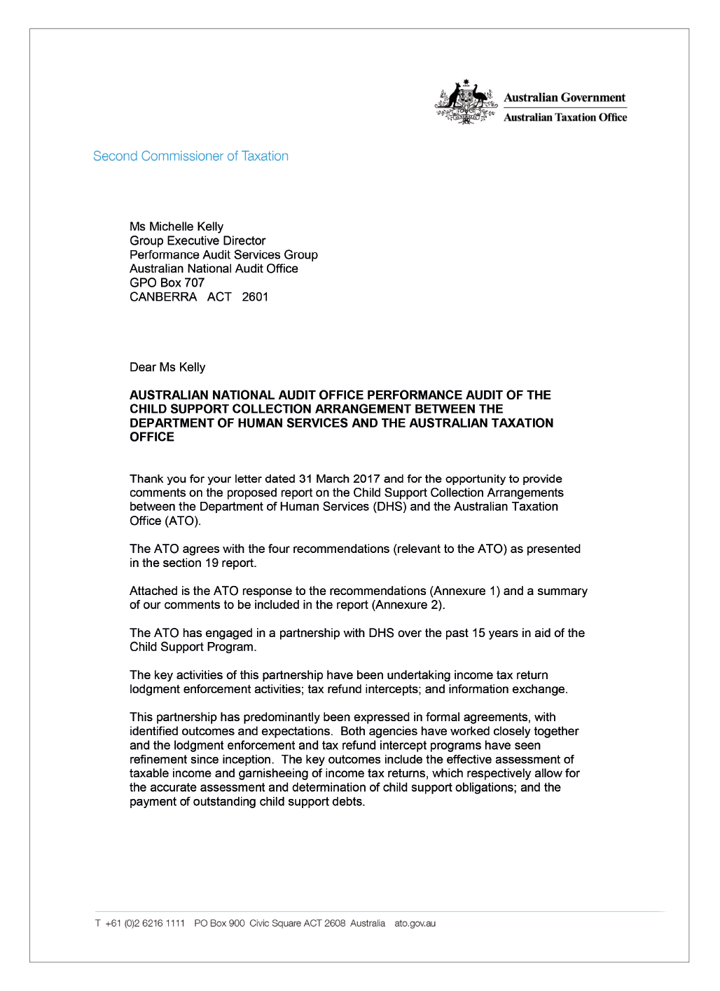 ATO response letter page 1