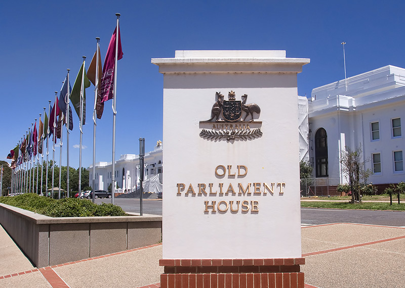 Old Parliament House sign